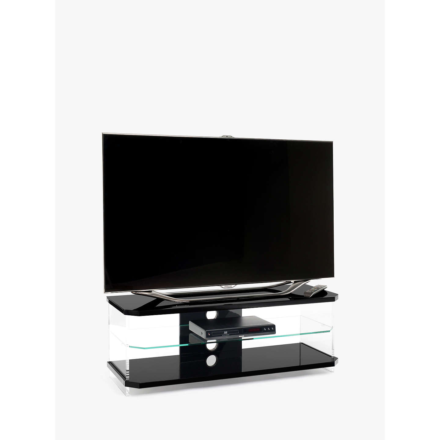 "BuyTechlink AI110 Air TV Stand for TVs up to 55"", Black Online at johnlewis.com"
