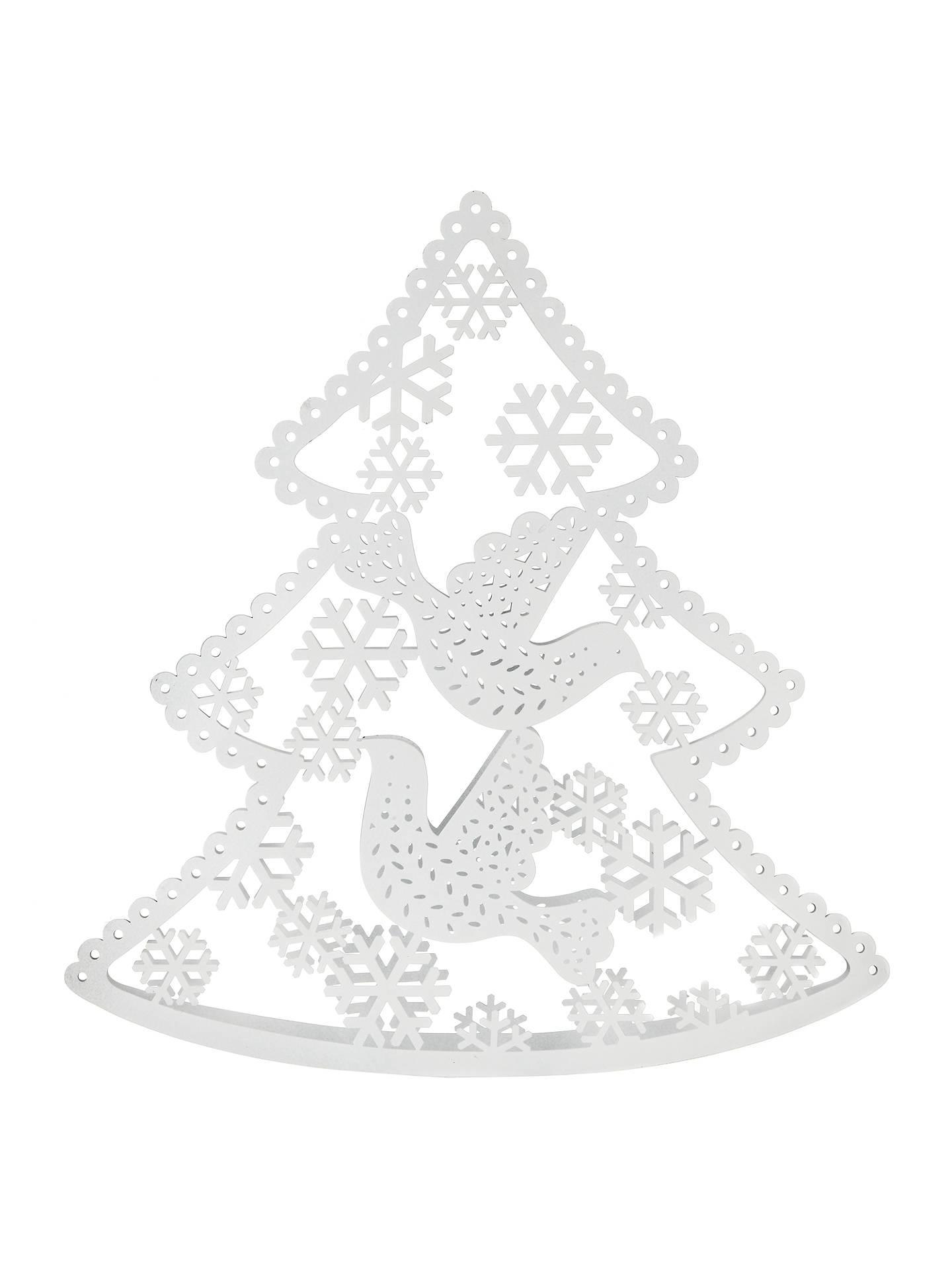 John Lewis Laser Cut Vintage Metal Christmas Tree White At John