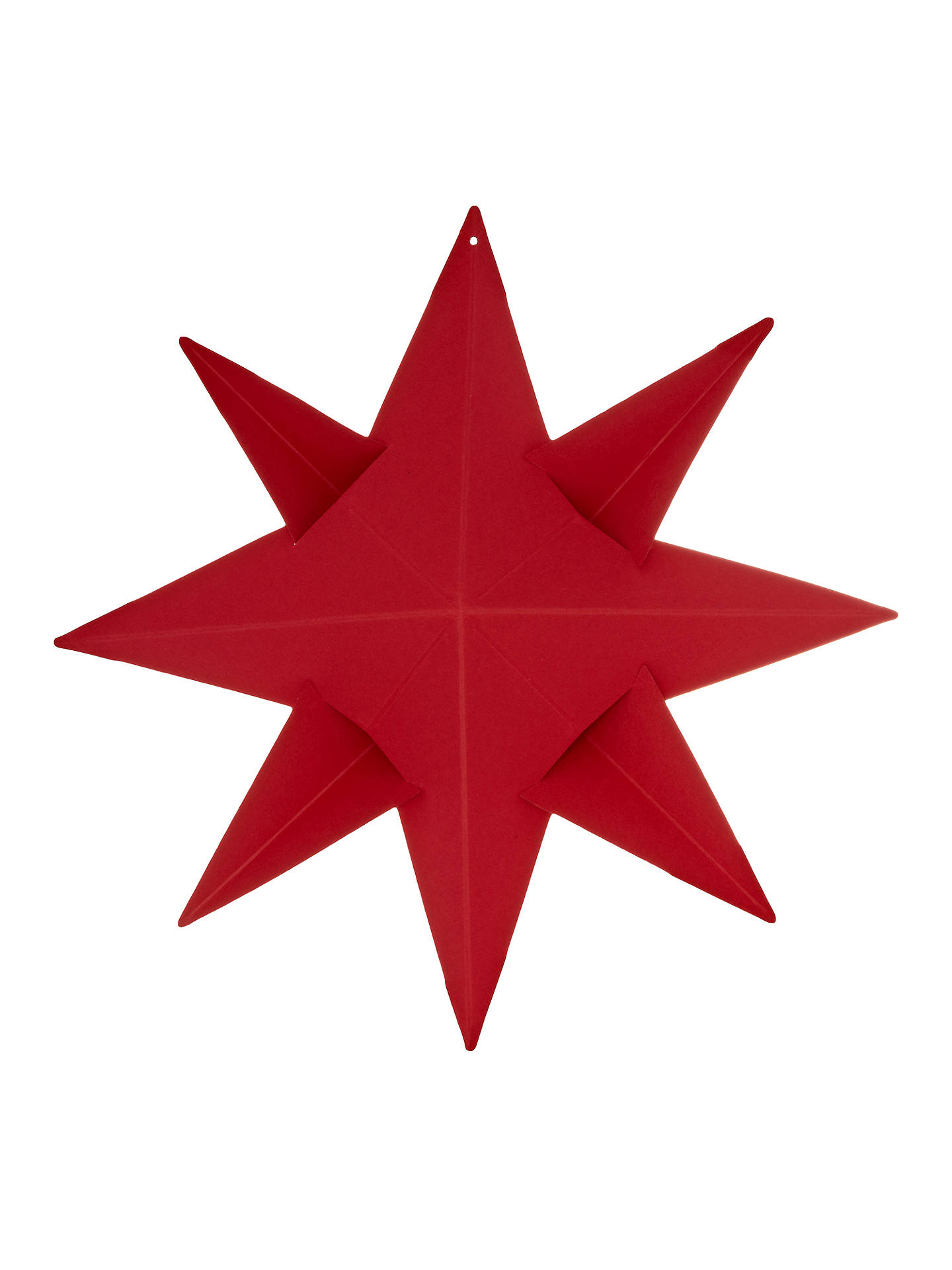 4814d51869 Buy Livingly Ingrid 8 Pointed Star Tree Decoration, Red Online at  johnlewis.com ...