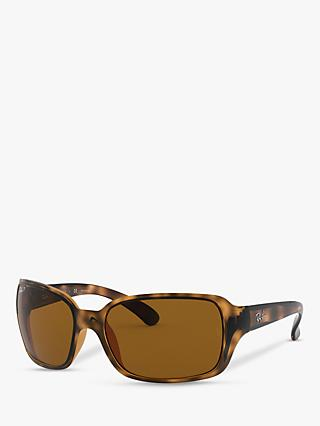 Ray-Ban RB4068 Oversized Square Sunglasses, Havana
