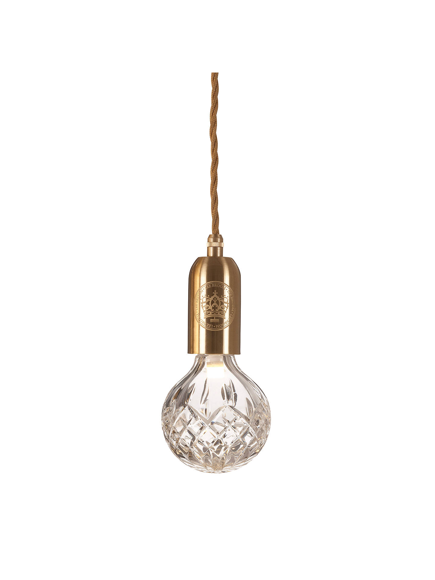 BuyLee Broom Clear Crystal Bulb and Pendant Online at johnlewis.com