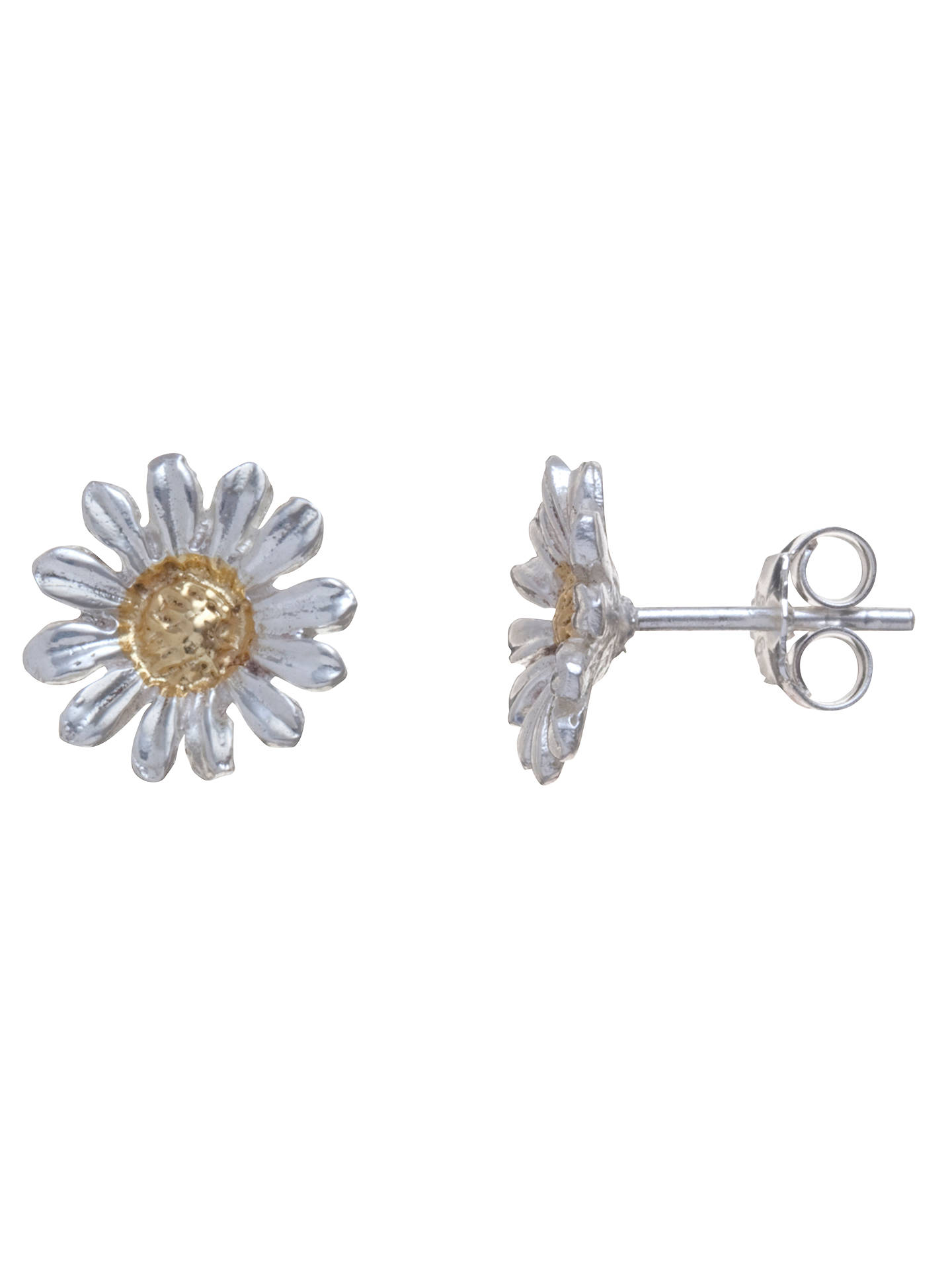 8a0f0e5f1 Buy Martick Sterling Silver Daisy Stud Earrings, Silver / Gold Online at  johnlewis.com