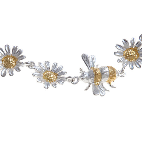 Buy Martick Bee and Daisy Bracelet, Silver / Gold Online at johnlewis.com