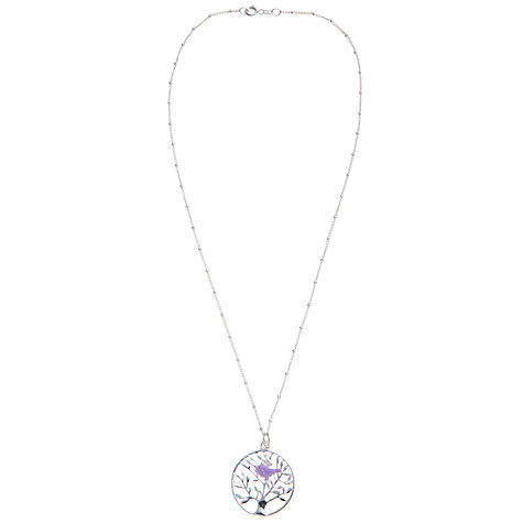 Buy Martick Tree of Life Pendant Necklace, Purple/Silver Online at johnlewis.com