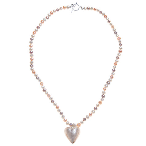 Buy Martick Fresh Water Pearl and Murano Style Necklace Online at johnlewis.com