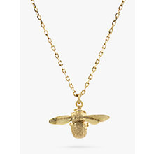 Buy Alex Monroe 18ct Yellow Gold Goldcrest Teeny Tiny Bumble Bee Pendant, Gold Online at johnlewis.com