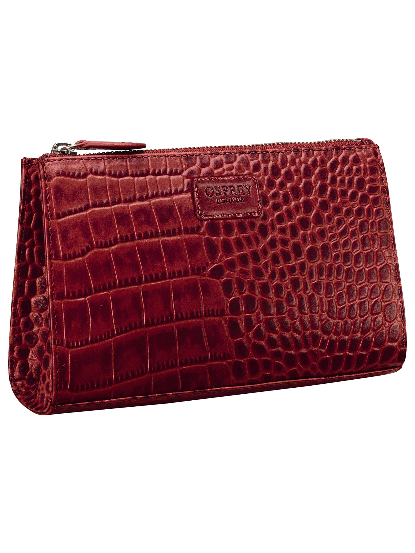 d486d25e2c7c Buy OSPREY LONDON Belle Leather Makeup Bag, Oxblood Online at johnlewis.com