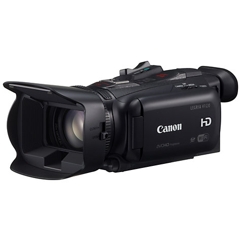 "Buy Canon LEGRIA HF G30 HD 1080p Camcorder, 2.91MP, 20x Optical Zoom, Wi-Fi, 3.5"" OLED Touch Screen, Black Online at johnlewis.com"