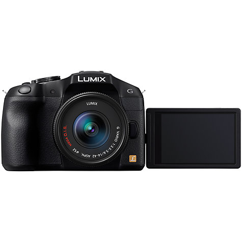 "Buy Panasonic Lumix DMC-G6 Compact System Camera with 14-42mm & 45-150mm Lenses, HD 1080p, 16MP, EVF, 3"" LCD Online at johnlewis.com"