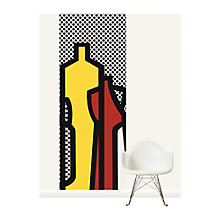 Buy Surface View Pop Bottles Black Wall Mural, 100 x 265cm Online at johnlewis.com