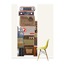 Buy Surface View Radio Silence Wall Mural, 100 x 265cm Online at johnlewis.com
