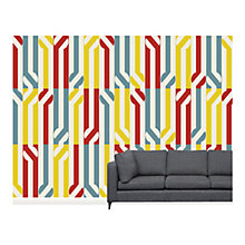 Buy Surface View Stripey Circle Wall Mural, 360 x 265cm Online at johnlewis.com