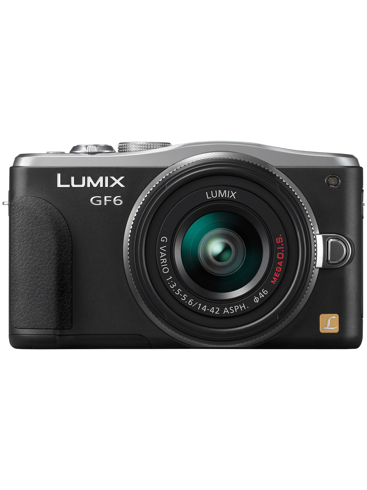 "Buy Panasonic Lumix DMC-GF6 Compact System Camera with 14-42mm Lens, HD 1080p, 16MP, Wi-Fi, NFC, 3"" Tiltable Touch Screen, Black Online at johnlewis.com"