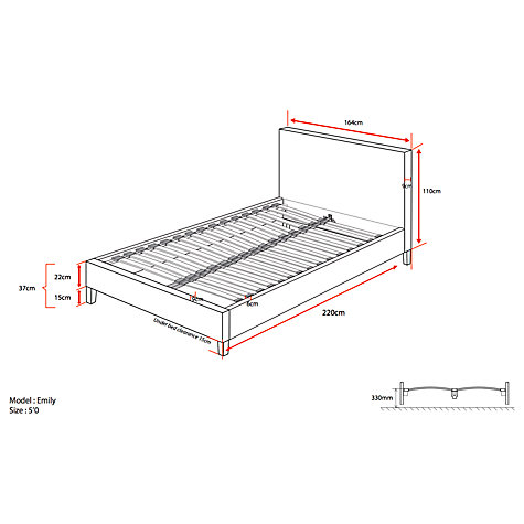 Buy John Lewis Emily Bed Frame, King Size Online at johnlewis.com