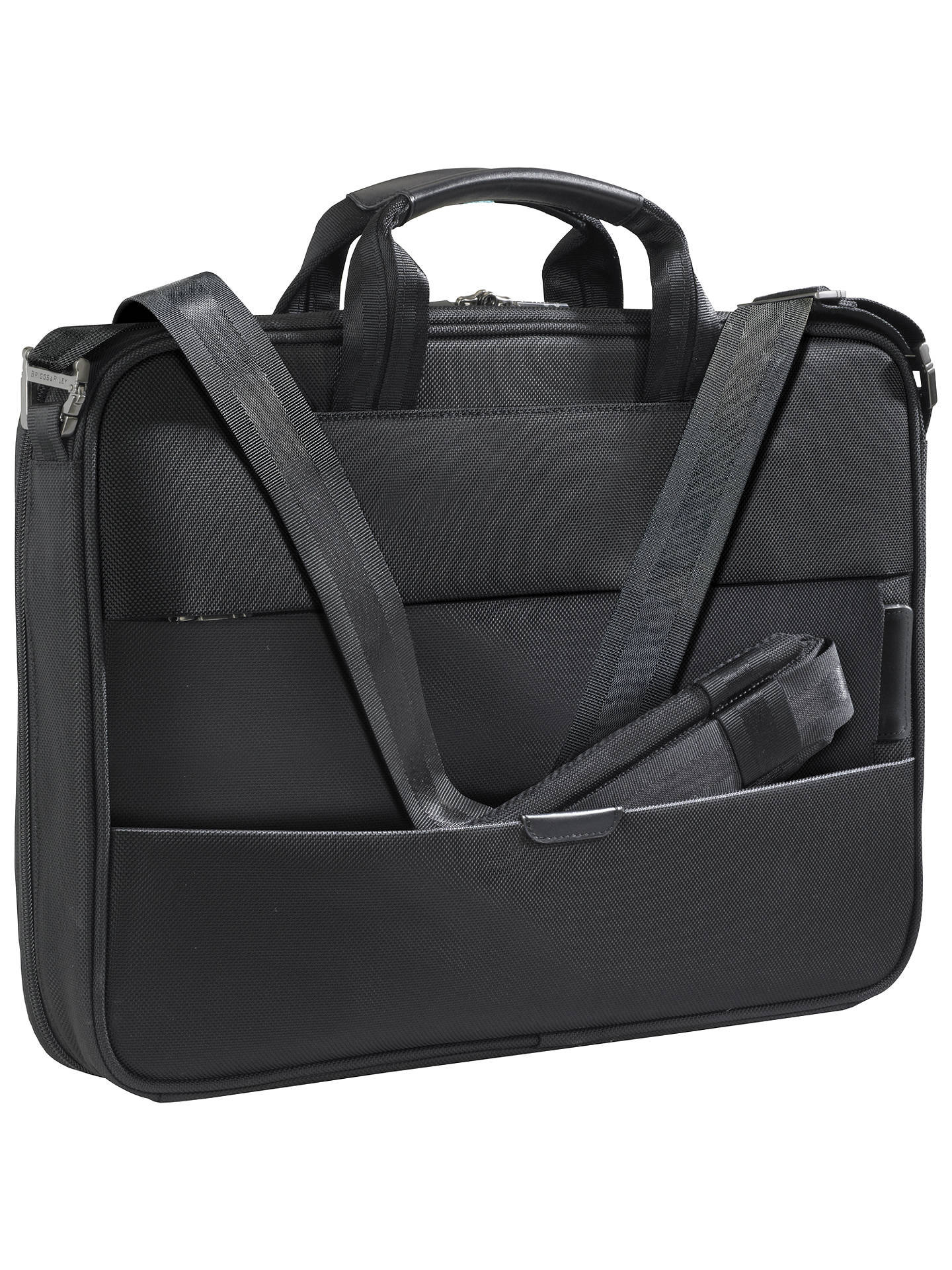 "BuyBriggs & Riley KB207X-4 Business 15.6"" Laptop Briefcase, Black Online at johnlewis.com"
