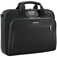 "Buy Briggs & Riley KB206-4 Business 15.6"" Laptop Briefcase, Black Online at johnlewis.com"