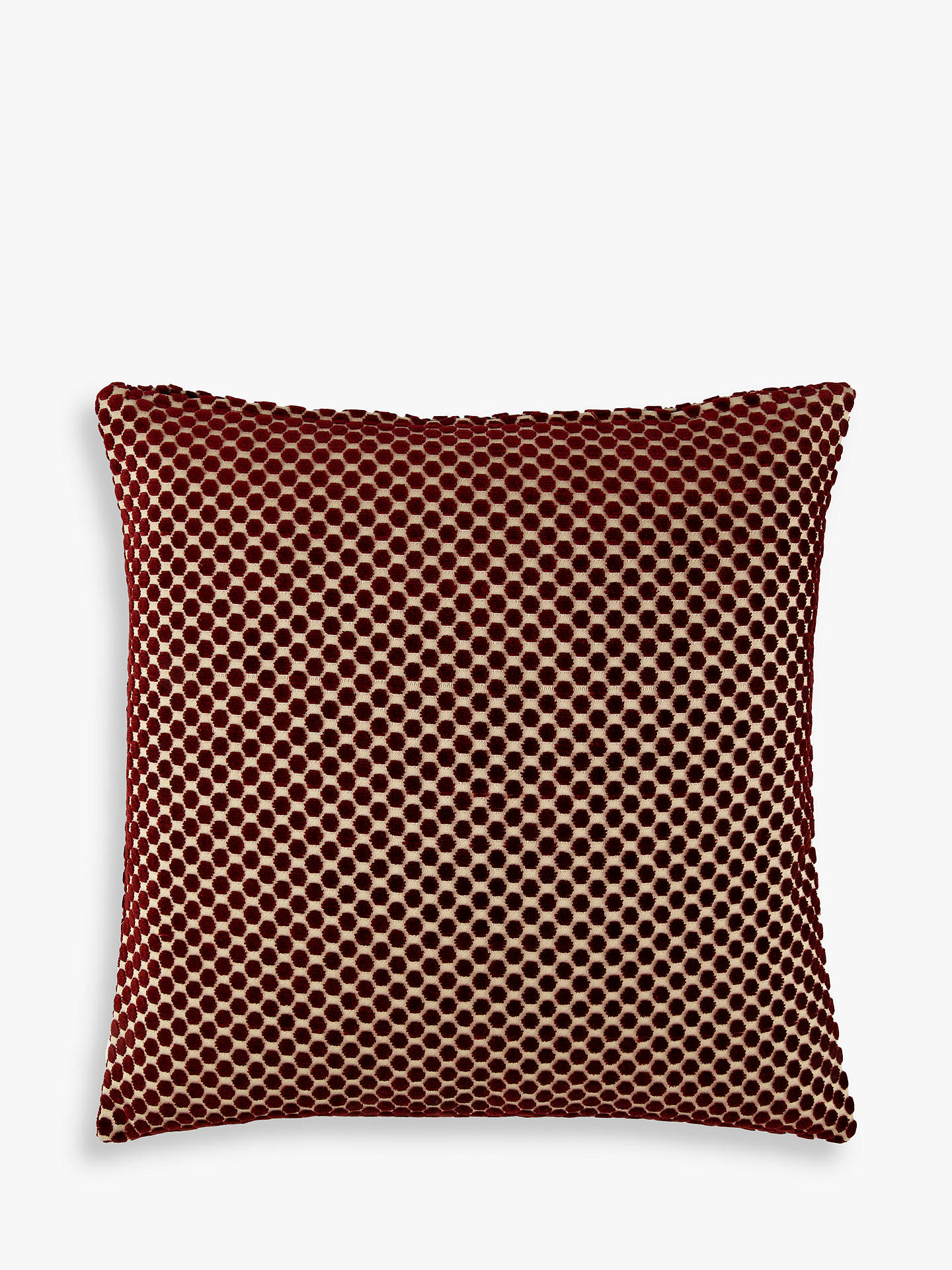 Buy John Lewis & Partners Mini Spot Cushion, Red Online at johnlewis.com