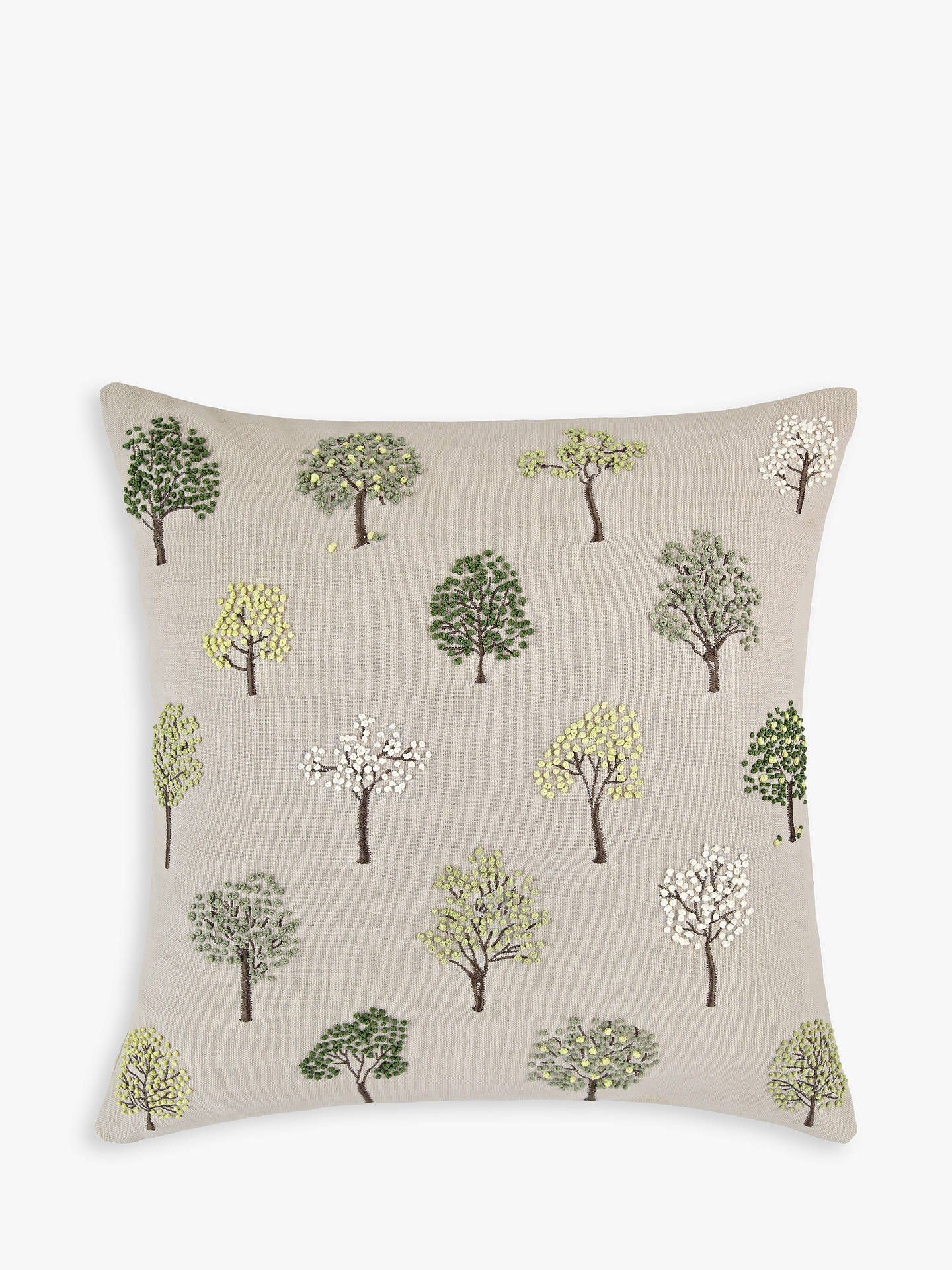 Buy John Lewis & Partners Mini Trees Cushion, Green Online at johnlewis.com