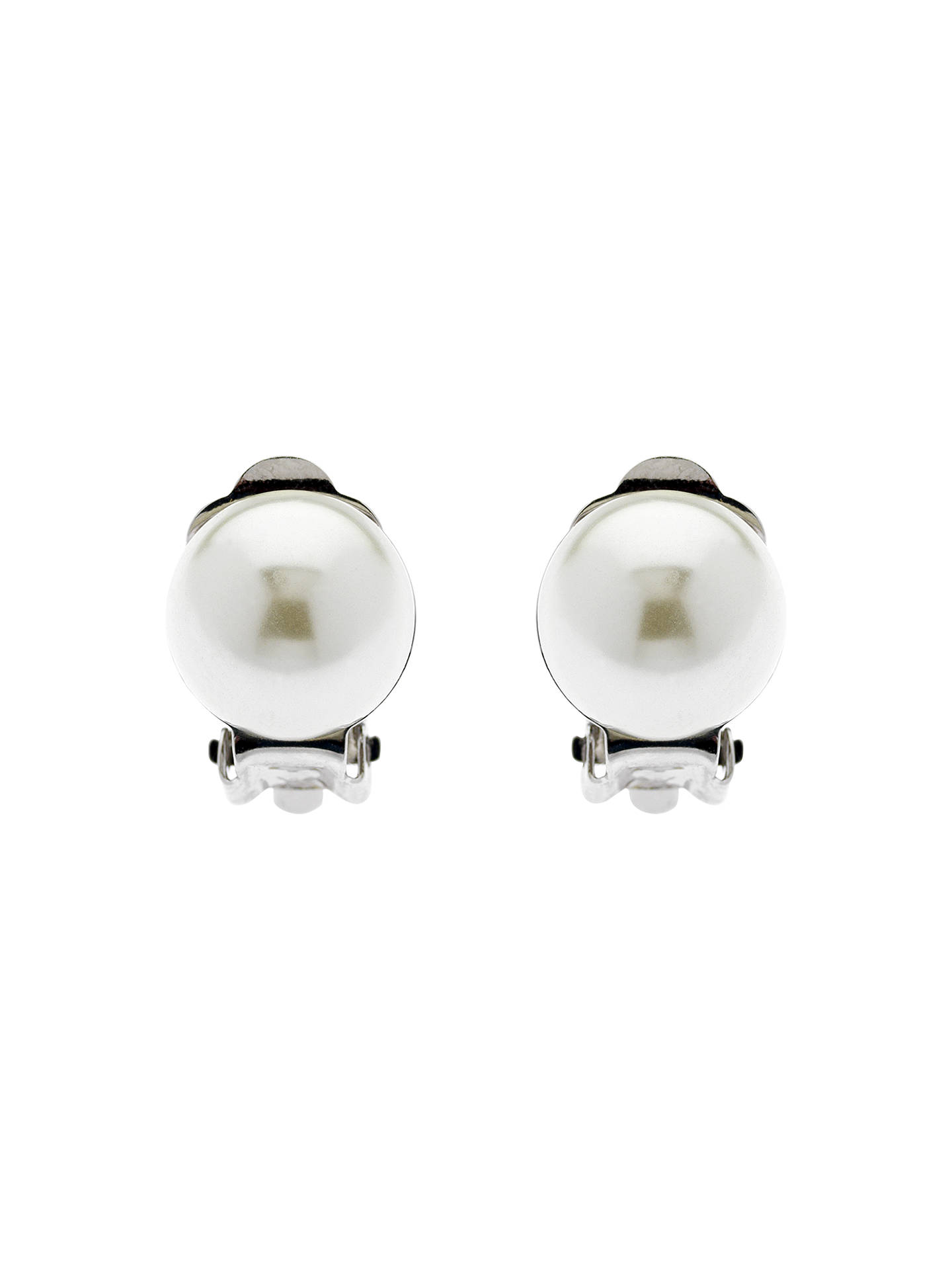 Finesse Faux Pearl Clip On Earrings White Online At Johnlewis