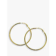 Buy Melissa Odabash Large Polished Hoop Earrings Online at johnlewis.com