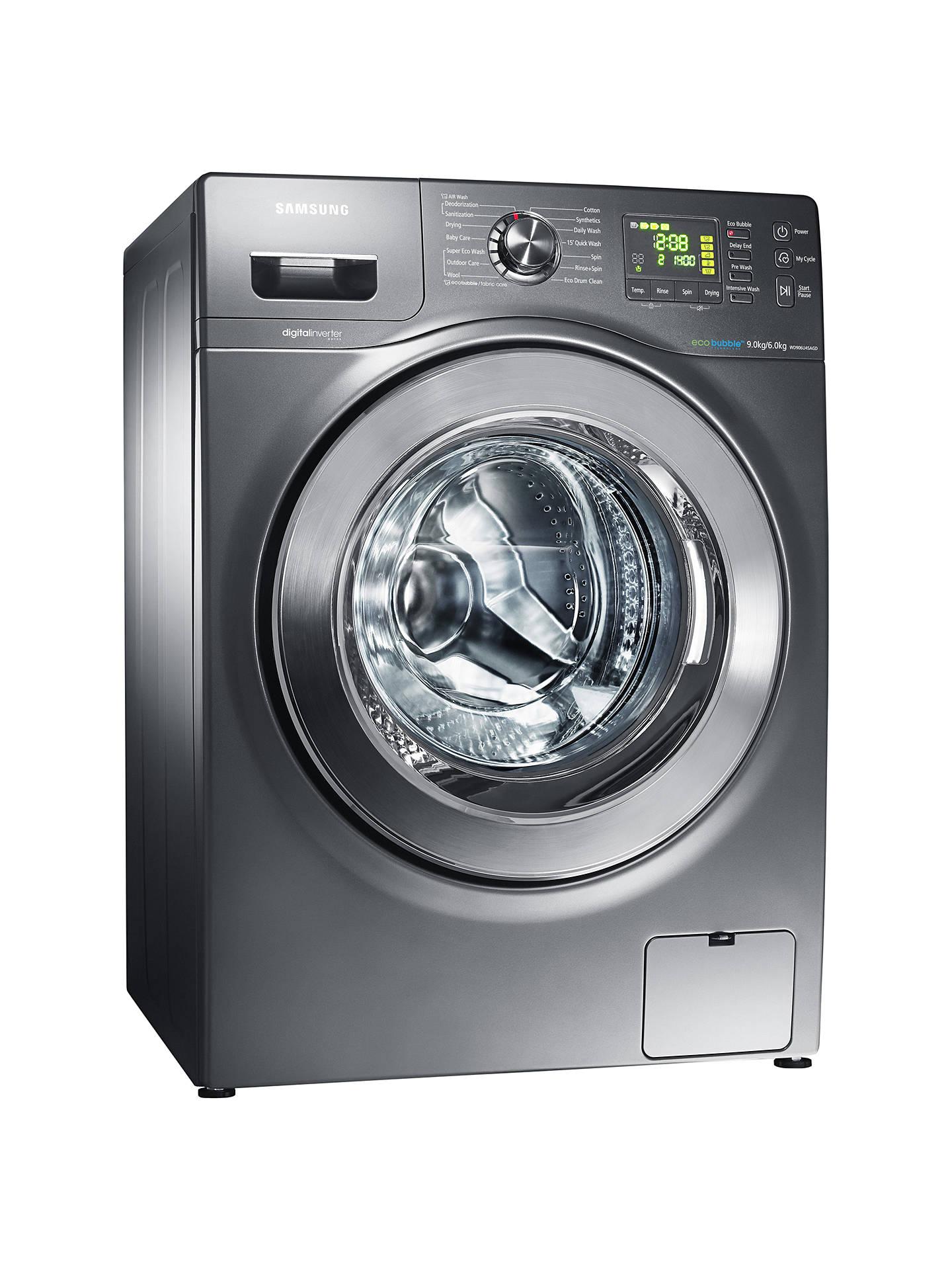 Samsung WD906U4SAGD Washer Dryer, 9kg Wash / 6kg Dry Load, A Energy