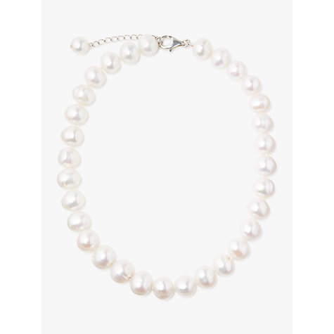 Buy Lido Pearls Extra Large Freshwater Pearl Single Row Necklace, White Online at johnlewis.com