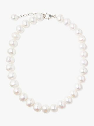 Lido Pearls Extra Large Freshwater Pearl Single Row Necklace, White