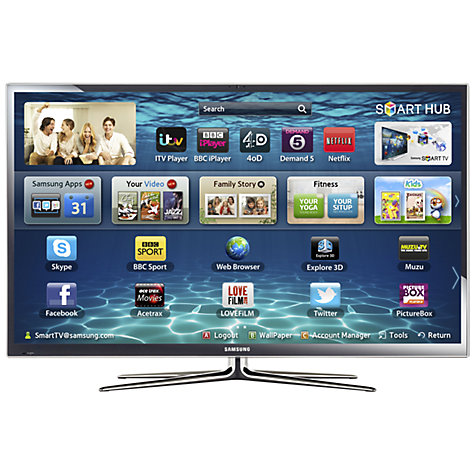 Buy Samsung PS51E8000 Plasma HD 1080p 3D Smart TV, 51 Inch with Freeview/Freesat HD and 2x 3D Glasses Online at johnlewis.com