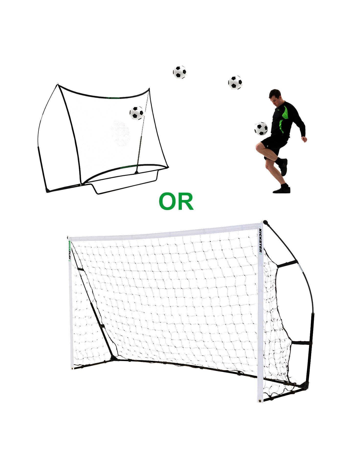 QuickPlay Kickster Ultra-Portable Combo 8' x 5' Goal or