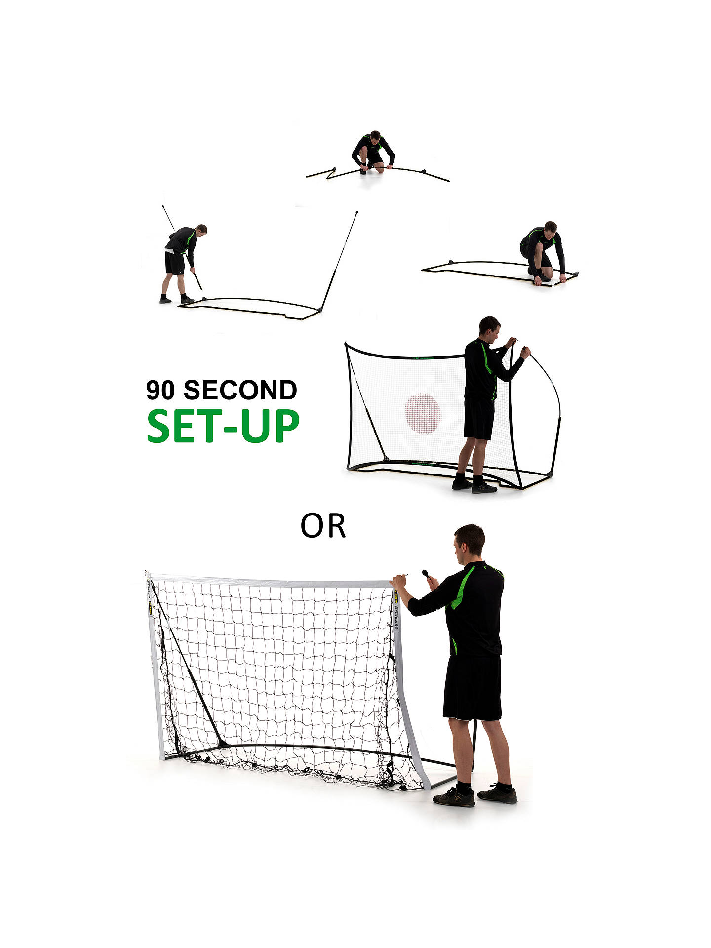 QuickPlay Kickster Ultra-Portable Combo 8' x 5' Goal or