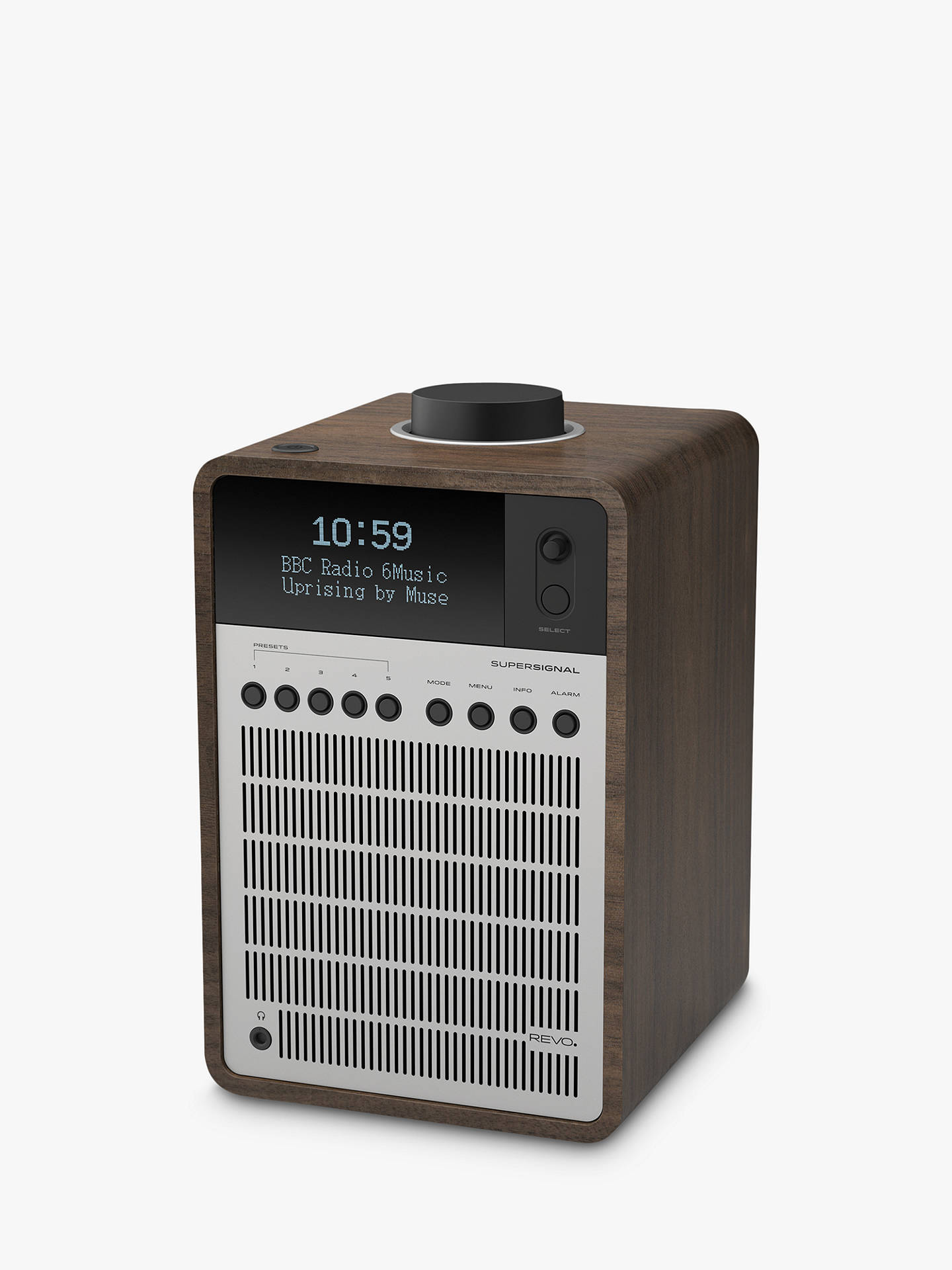 Buy Revo SuperSignal DAB/FM Bluetooth Radio, Silver/Walnut Online at johnlewis.com