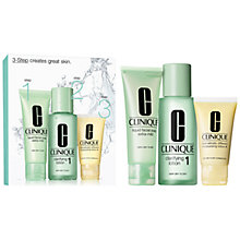 Buy Clinique 3-Step Skincare 1 Introduction Kit, Very Dry to Dry Online at johnlewis.com