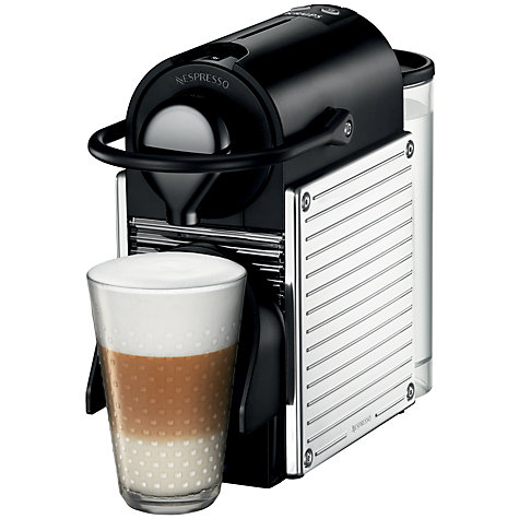 Buy Nespresso Pixie Automatic Coffee Machine and Aeroccino by KRUPS, Stainless Steel Online at johnlewis.com