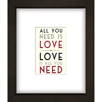 East of India All You Need Is Love Framed Print, 27 x 23cm