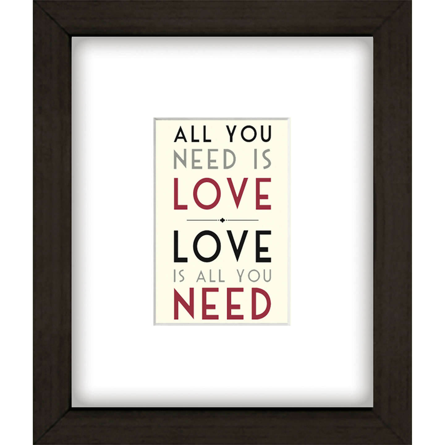 BuyEast of India All You Need Is Love Framed Print, 27 x 23cm Online at johnlewis.com