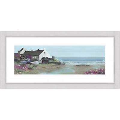 Debbie Neill – Coastal House Framed Print, 52 x 107cm