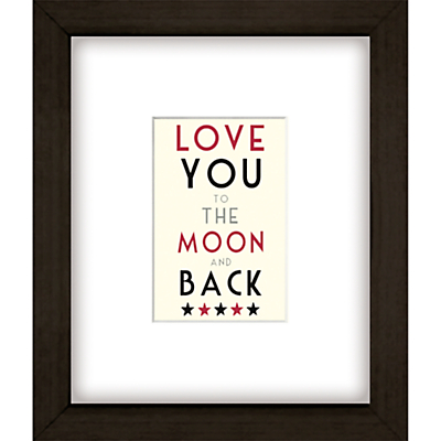 East of India Moon And Back Framed Print, 27 x 23cm