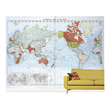 Buy Surface View Commercial Chart of the World Wall Mural, 360 x 265cm Online at johnlewis.com