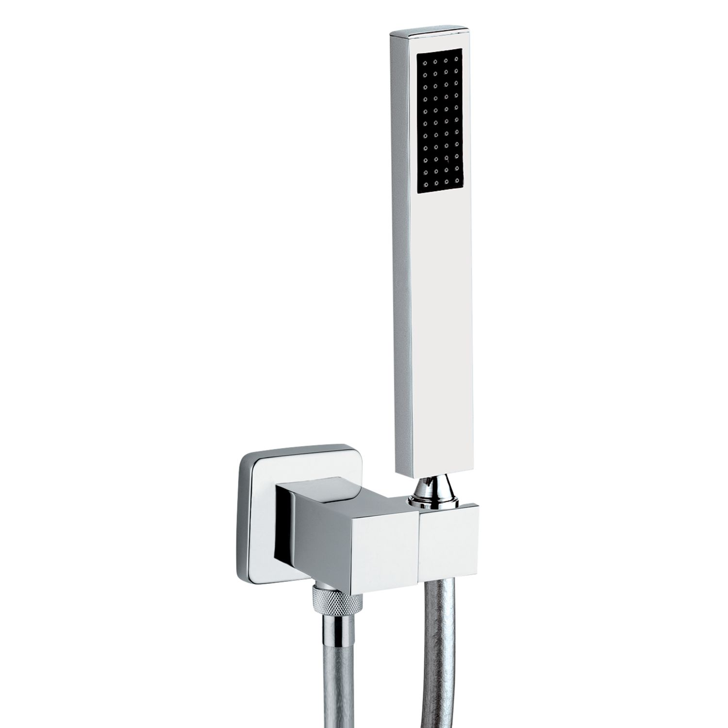Abode Abode Euphoria Square Combined Wall Outlet, Hose, Handshower and Bracket Kit