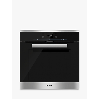 Image of Miele H6660BP PureLine Single Electric Oven, Clean Steel