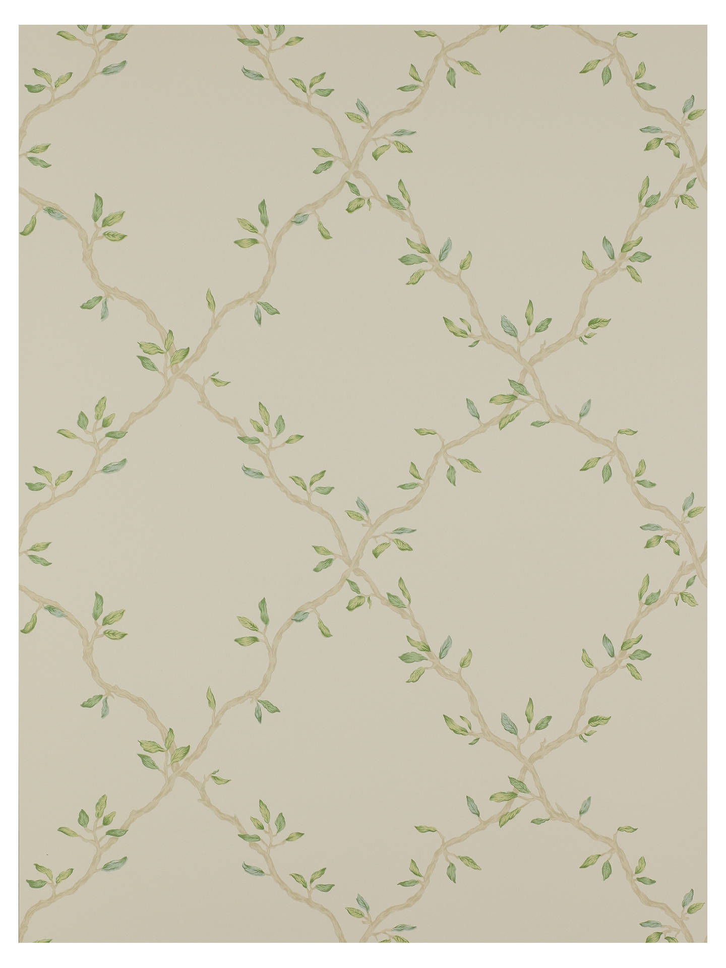 Buy Colefax and Fowler Leaf Trellis Wallpaper, Pale Green, 07706/02 Online at johnlewis.com