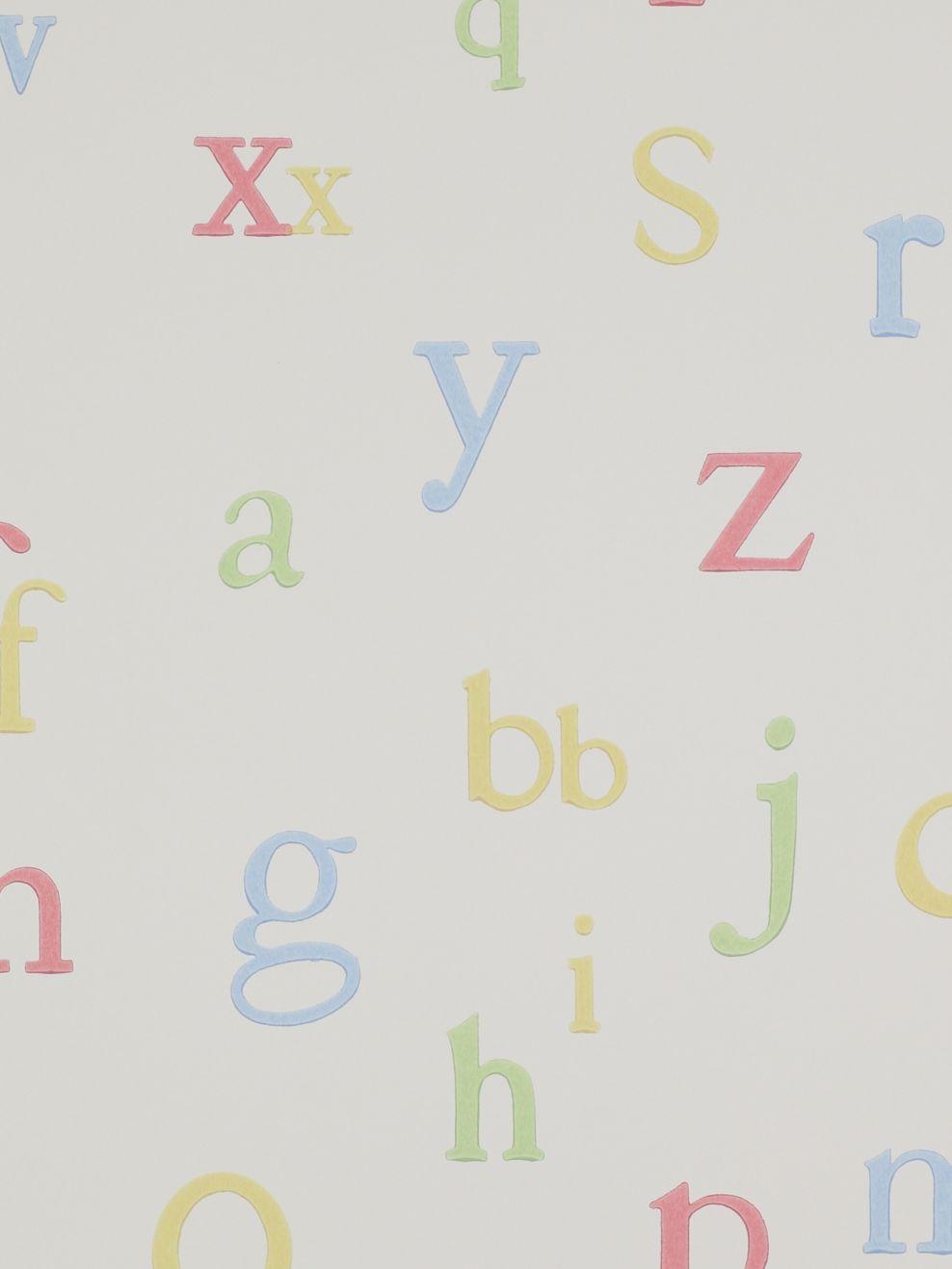 Jane Churchill Jane Churchill Alphabet Wallpaper