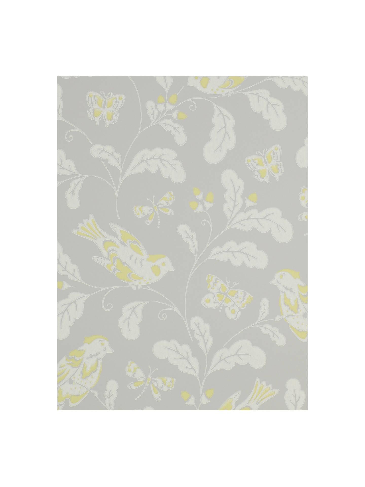 BuyJane Churchill Songbird Wallpaper Yellow Grey J139W 05 Online At Johnlewis