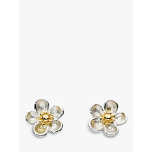 Buy Kit Heath Budding Blossom Sterling Silver Stud Earrings, Silver / Gold Online at johnlewis.com