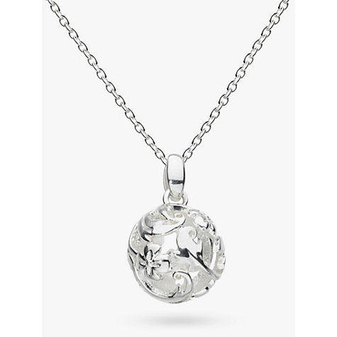 Buy kit heath sterling silver carved ball pendant john lewis buy kit heath sterling silver carved ball pendant online at johnlewis aloadofball Image collections
