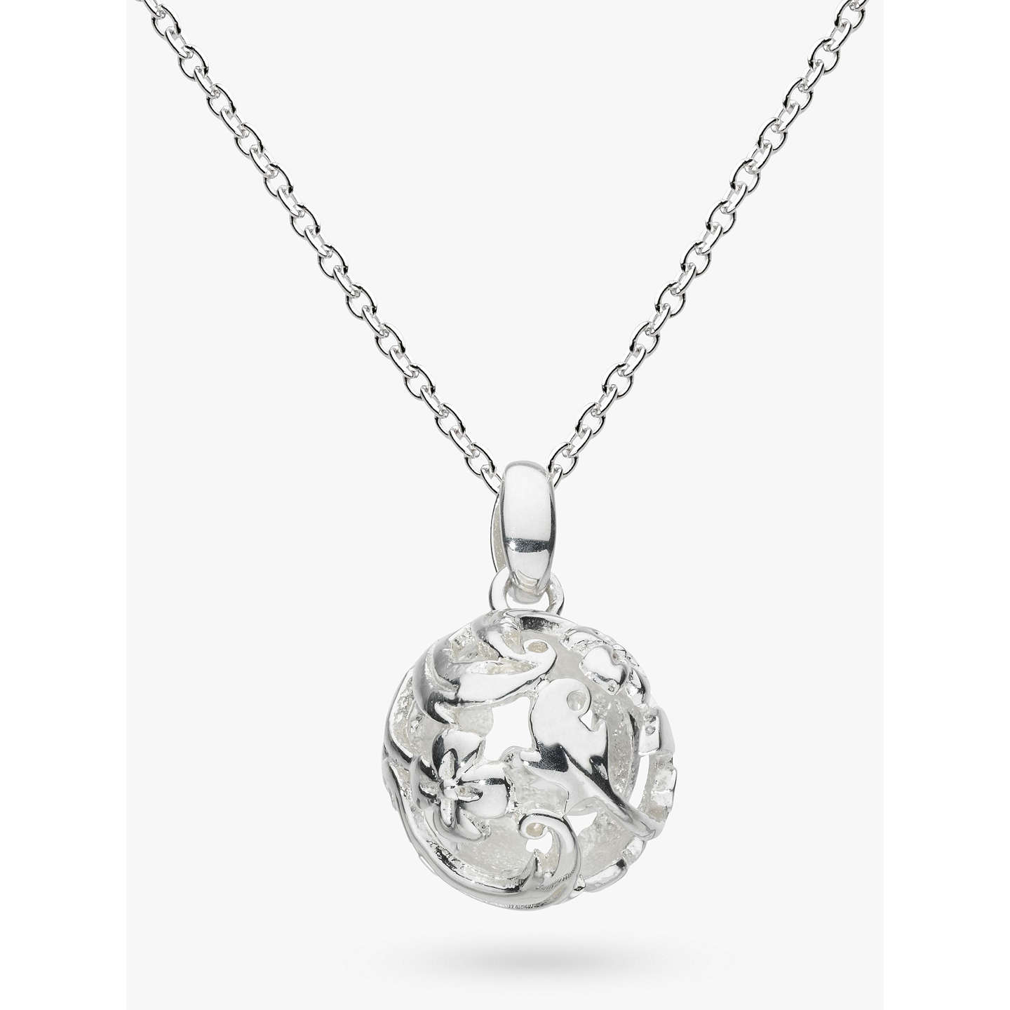 Kit heath sterling silver carved ball pendant at john lewis buykit heath sterling silver carved ball pendant online at johnlewis aloadofball Image collections