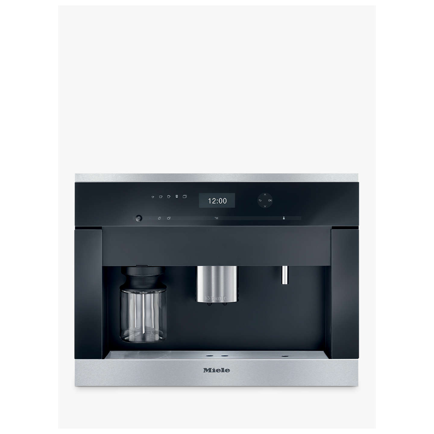 miele cva 6401 built in bean to cup coffee machine clean steel at john lewis. Black Bedroom Furniture Sets. Home Design Ideas