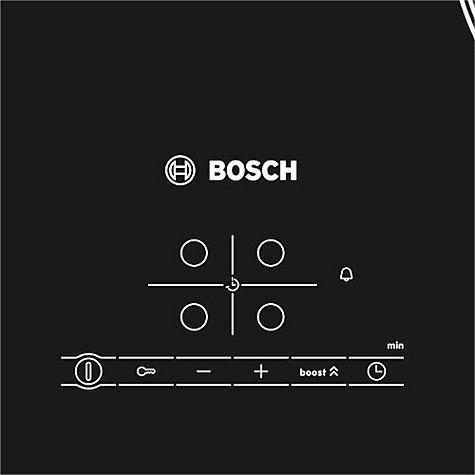 Buy Bosch PIA611B68B Induction Hob, Black Glass Online at johnlewis.com