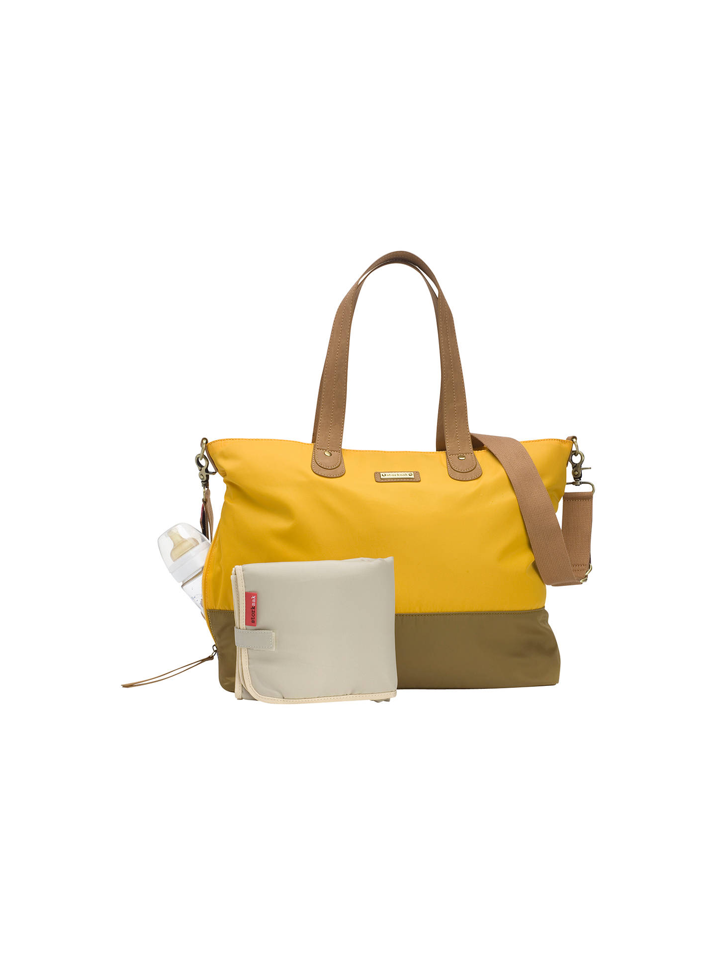 BuyStorksak Tote Changing Bag, Yellow Online at johnlewis.com