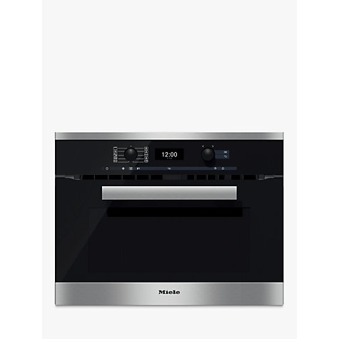 buy miele h6400bm pureline single electric oven with. Black Bedroom Furniture Sets. Home Design Ideas